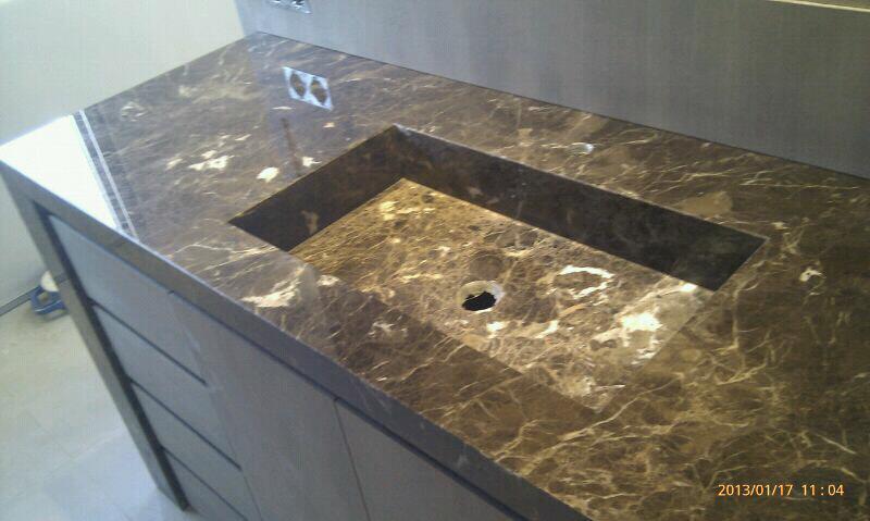 Marmolistas encimeras de m rmol en almeda cornell - Encimeras de marmol para lavabos ...